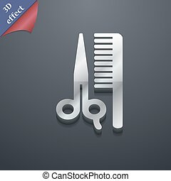 hair icon symbol. 3D style. Trendy, modern design with space for your text Vector