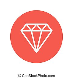 Diamond thin line icon for web and mobile minimalistic flat...