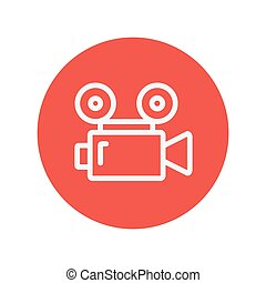 Cinematography thin line icon for web and mobile...