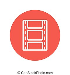 Film strip with image thin line icon for web and mobile...