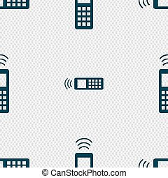 the remote control icon sign Seamless pattern with geometric...