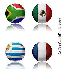 FIFA World cup 2010 - Group A - Soccer world championship...