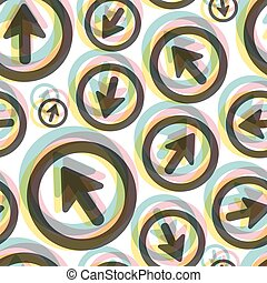 Arrows. Seamless pattern. Vector illustration. Can be used...
