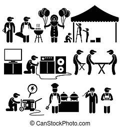 Celebration Party Festival Services - Human pictogram...