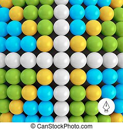 Abstract technology background with balls Spheric pattern 3d...