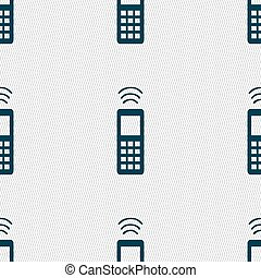the remote control icon sign. Seamless pattern with...