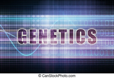 Genetics on a Tech Business Chart Art