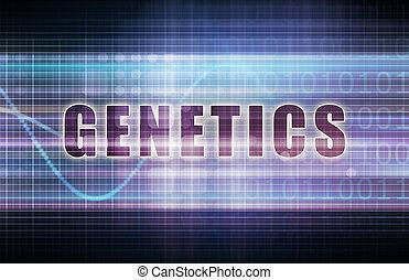Genetics on a Tech Business Chart Art