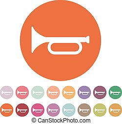 The horn icon. clarion symbol. Flat Vector illustration....