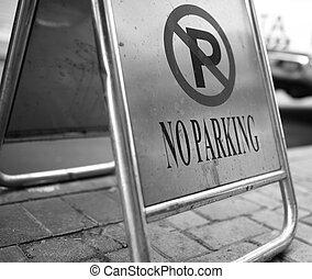 no parking sign - no parking street sign