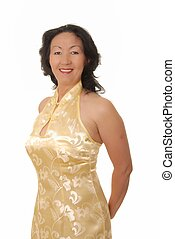 Senior Businesswoman - Portrait of a lovely asian...