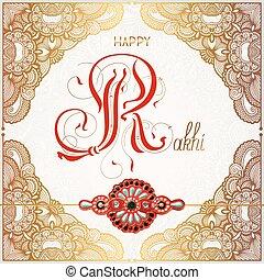 greeting card for indian holiday Raksha Bandhan - Happy...