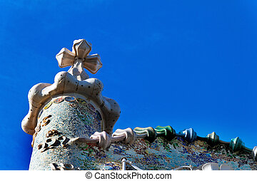 Casa Battlo, Barcelona, Spain - Tower, Casa Batllo,...