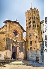 Medieval Church of St. Andrea, Orvieto, Italy - Medieval...
