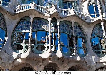 Casa Batllo, Barcelona, Spain - Detail of Casa Batllo,...