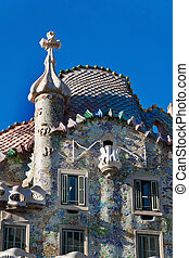 Casa Battlo, Barcelona, Spain - Detail of Casa Batllo,...