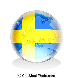 Sweden Flag Globe