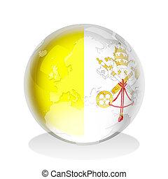 Vatican City Flag Globe