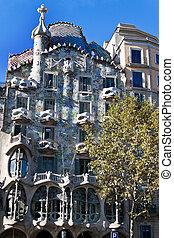 Casa Batllo, Barcelona, Spain - Exterior of Casa Batllo,...