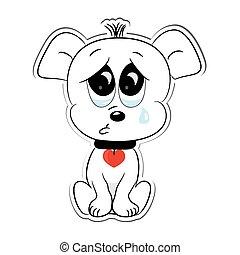 Sad dog. Sticker