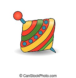 Humming-top, whirligig - vector illustration