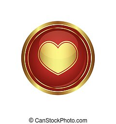 Heart icon on the button