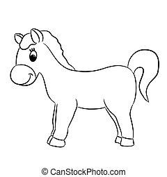 Cartoon horse - vector illustration
