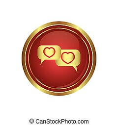 Speech bubbles with hearts icon
