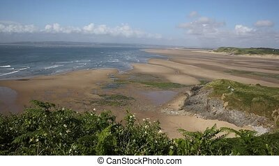 Broughton Bay the Gower peninsula South Wales UK near...