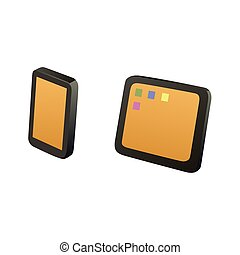 Tablet and mobile phone - This is an illustration of tablet...
