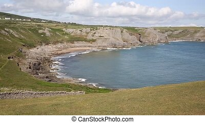 Fall Bay The Gower Wales PAN - Fall Bay The Gower peninsula...
