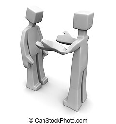 Complaint or communication concept - Man scolding to a guy...