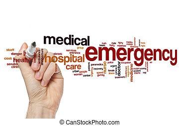 Emergency word cloud concept - Emergency word cloud
