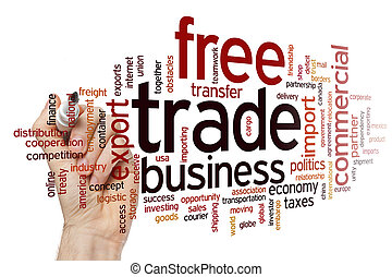 Free trade word cloud - Free tradeconcept word cloud...