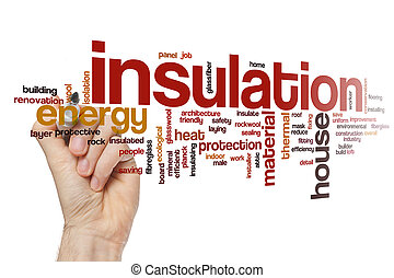 Insulation word cloud concept - Insulation word cloud