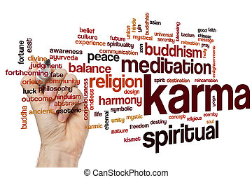 Karma word cloud - Karma concept word cloud background