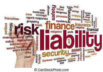 Liability word cloud concept