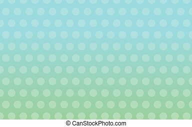 Green to Blue Gradient with Dots - Pattern of dots on top of...