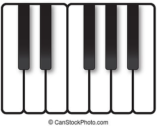 Piano Keys Illustration - Piano keys showing one octave of...