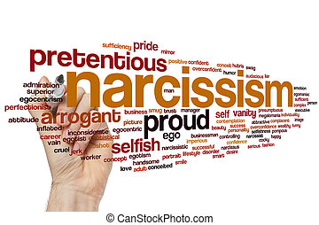 Narcissism word cloud - Narcissism concept word cloud...