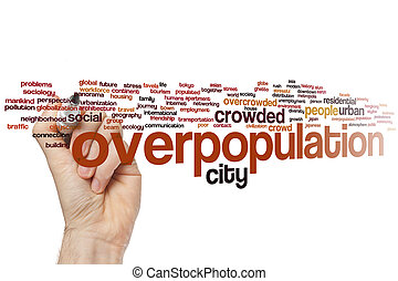 Overpopulation word cloud - Overpopulation concept word...