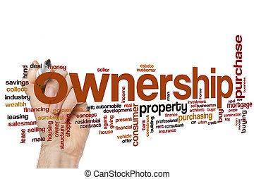 Ownership word cloud concept
