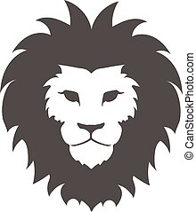 Lion face logo emblem template for business or t-shirt...