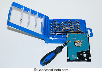 Hard Disk and Precision Screwdriver