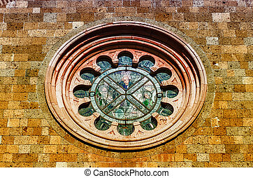 Rose Window of the Church of St. Andrea, Orvieto, Italy