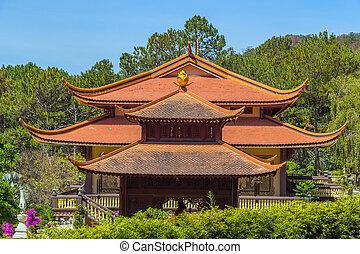 Monastery. - Thien Vien Truc Lam Monastery Dalat. Vietnam.