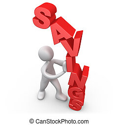 Savings - Computer Generated 3D Image - Savings