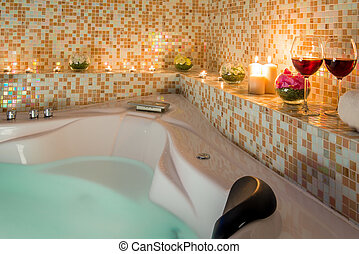 evening romantic bath for loving couples