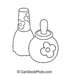 Outlined toy perfume bottles