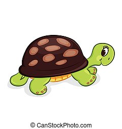 Cartoon turtle. Vector illustration